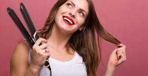 Възстановяваща терапия за коса с топла преса и ампула, плюс полиране и оформяне със сешоар