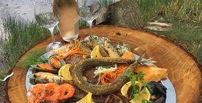 2.6кг Лукс плато! Лаврак, зарган, сафрид, филе от треска, фагри, гопа, кралски скариди и миди