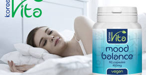 Натурален продукт за спокоен сън и добро настроение! Хранителна добавка Mood balance - 60 веган капсули
