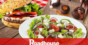 Тристепенно Roadhouse Grill меню с Гръцка салата, Maxxxi Burger и сладко трио фондани