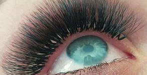 """Удължаване и сгъстяване на мигли по метода """"косъм по косъм"""" или с техника 3D"""