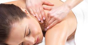 Релаксиращ масаж на гръб и глава, плюс рефлексотерапия на ходила и длани