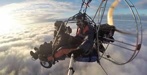 Тандемен полет с моторен парапланер над Шуменското плато или Мадара, плюс видеозаснемане