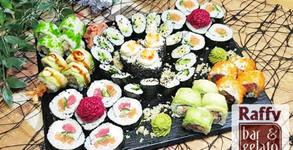 Екзотично хапване за вкъщи! Хрома суши сет с 43 хапки