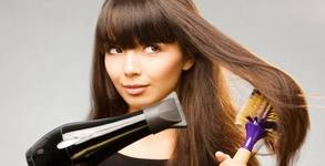 Красива коса! Измиване и нанасяне на подхранваща маска, плюс изправяне със сешоар