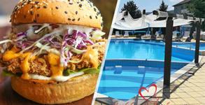Свински или пилешки бургер, чийзбургер или Английска закуска - за хапване на място или за вкъщи