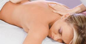 Лечебен масаж с био масла за релаксиране на мускулни и ставни болки, плюс тонизиране - на гръб и рамене или на цяло тяло