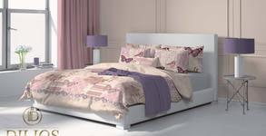 Спален комплект от памучен сатен - в десен по избор
