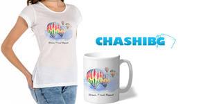 Дамска или мъжка тениска с дизайн по избор - без или със чаша