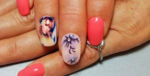 Отпечатай снимка върху ноктите си! Маникюр с гел лак или гел върху естествен нокът, плюс 2 броя принт декорации