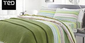 Плетено памучно одеяло в размер и десен по избор, плюс безплатна доставка