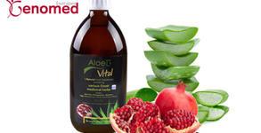 Натурален сок Aloe G Vital от Алое вера гел, в комбинация с колаген, хиалуронова киселина, нар и билки от остров Крит