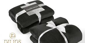 Топло одеяло с кашмирена мекота в черен цвят