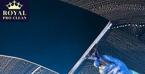 Двустранно измиване на прозорци и дограми в помещение до 100кв.м