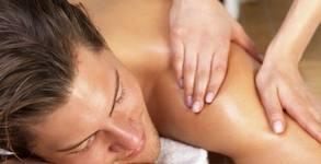 Релаксиращ масаж на гръб, рамене и шия - без или със лифтинг масаж на лице, шия и деколте