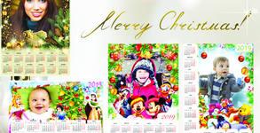 Еднолистен календар със снимка на клиента