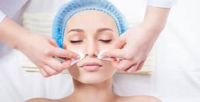 Диамантено микродермабразио на лице и фотодинамична терапия с LED маска