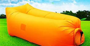 Надуваем шезлонг в оранжев или зелен цвят