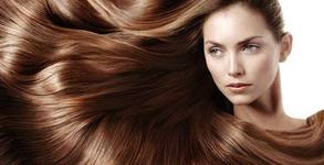 Боядисване на коса с боя от салона, плюс оформяне със сешоар