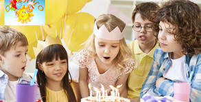 2 часа парти за до 15 деца с аниматор, меню, украса и възможност за торта