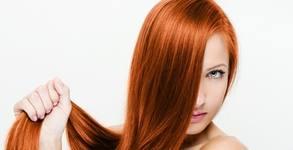 Терапия за коса с безцветен гланц, премахване на нацъфтели краища и изправяне със сешоар