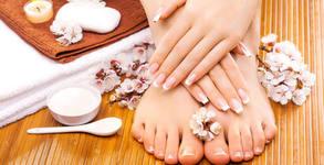 Маникюр с лак или гел лак, изграждане на нокти с гел, ноктопластика или педикюр
