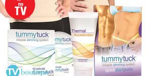 Система за ефективно стопяване на коремните мазнини Tummy Tuck - колан, крем и наръчник за употреба