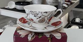 """Чаша от фин костен порцелан или стъклено плато """"Венецианска маска"""""""