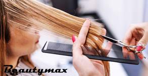 Терапия за изтощена коса Code Zero Ecovexx, измиване, подстригване на връхчета и оформяне