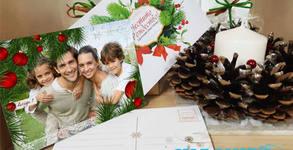Уникален подарък за Коледа пъзел, картичка или магнит с ваша снимка