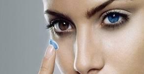 Комплект цветни лещи Freshlook, по избор от 8 цвята, или комбиниран разтвор за лещи