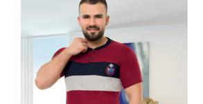 Мъжка пижама с къс ръкав от 100% памук - в модел и размер по избор