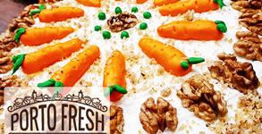 Парче морковена торта или чийзкейк, плюс фреш по избор