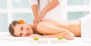 Релаксиращ масаж на гръб, масажна яка и горни крайници и антистрес масаж на глава