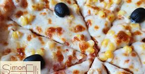 Пица Чикън, плюс палачинка Рафаело с бял шоколад и кокосови стърготини