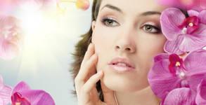Лифтинг масаж на лице, шия и деколте с био какаово масло и бонус - ампула с ултразвук или почистване на вежди