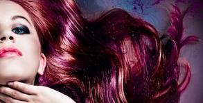 Боядисване на коса с боя на клиента, маска и подстригване, плюс терапия, ампула и оформяне