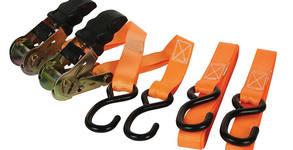2 броя колани за укрепване на багаж Perel ARAT2552 с обтягащ механизъм