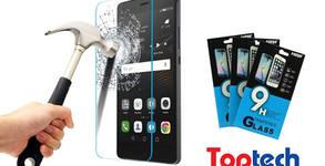 Комплект стъклен протектор Tempered Glass и прозрачен силиконов гръб Ultra Slim за мобилен телефон