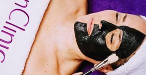Процедура за детоксикация на лице с карбонова маска
