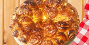 Кекс Мозайка или солена питка със сирене Роза