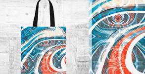Торбичка от плат - с двустранен принт по избор