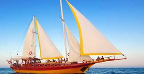 Моторно-ветроходна яхта Trophy