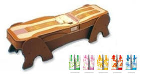 Процедура на термомасажно легло Migun, с нанасяне на регенериращ крем