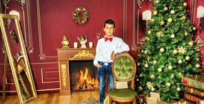 Студийна фотосесия със зимни декори - със 7 или 10 обработени кадъра