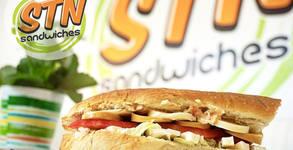 Сандвич и шоколадов мъфин - без или със салата