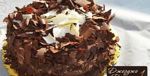 Торта по избор - шоколадова или ванилова с боровинки