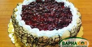 Бишкотена торта с вишни или шоколадова торта с орехи