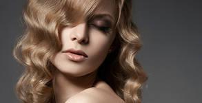 Боядисване на коса с боя на клиента, подстригване, брюлаж и оформяне със сешоар