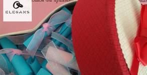 """Игра """"52 седмици любов"""" - луксозна кутийка във формата на сърце със 104 папируса"""